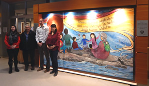 Art piece created by local Metis artist Carla Joseph