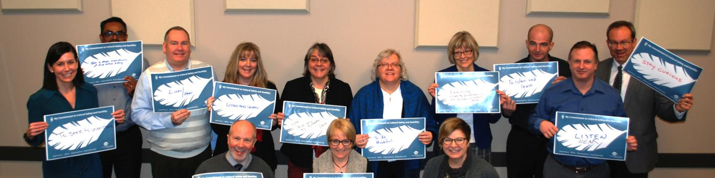 Northern Health Executive Committee members holding their pledges