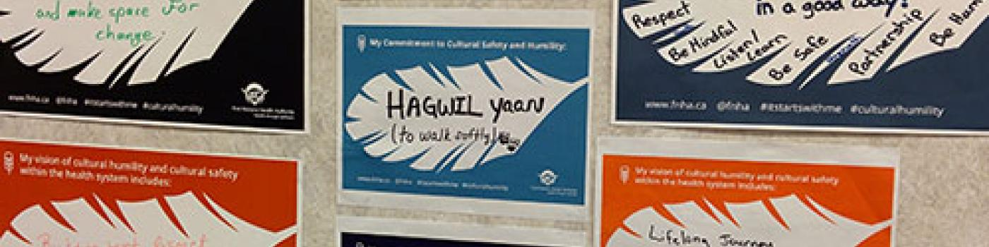 Cultural safety pledges on a wall
