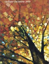 Cover image featuring hand painted tree with fall colours of red, yellow, orange