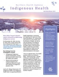 Front page of the fall 2020/winter 2021 newsletter