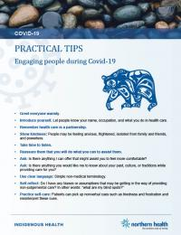 Cover of practical tips fact sheet with bear character