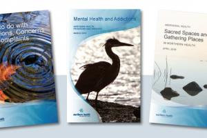 Three different Indigenous Health booklet covers